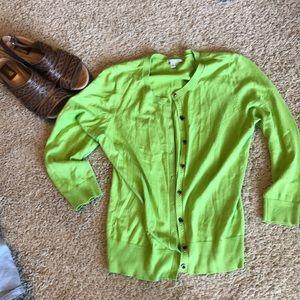 Lime green adorable cardigan